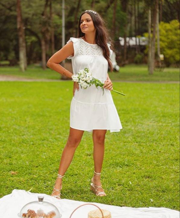 Vestido Morina Tricoline Detalhe Lesi