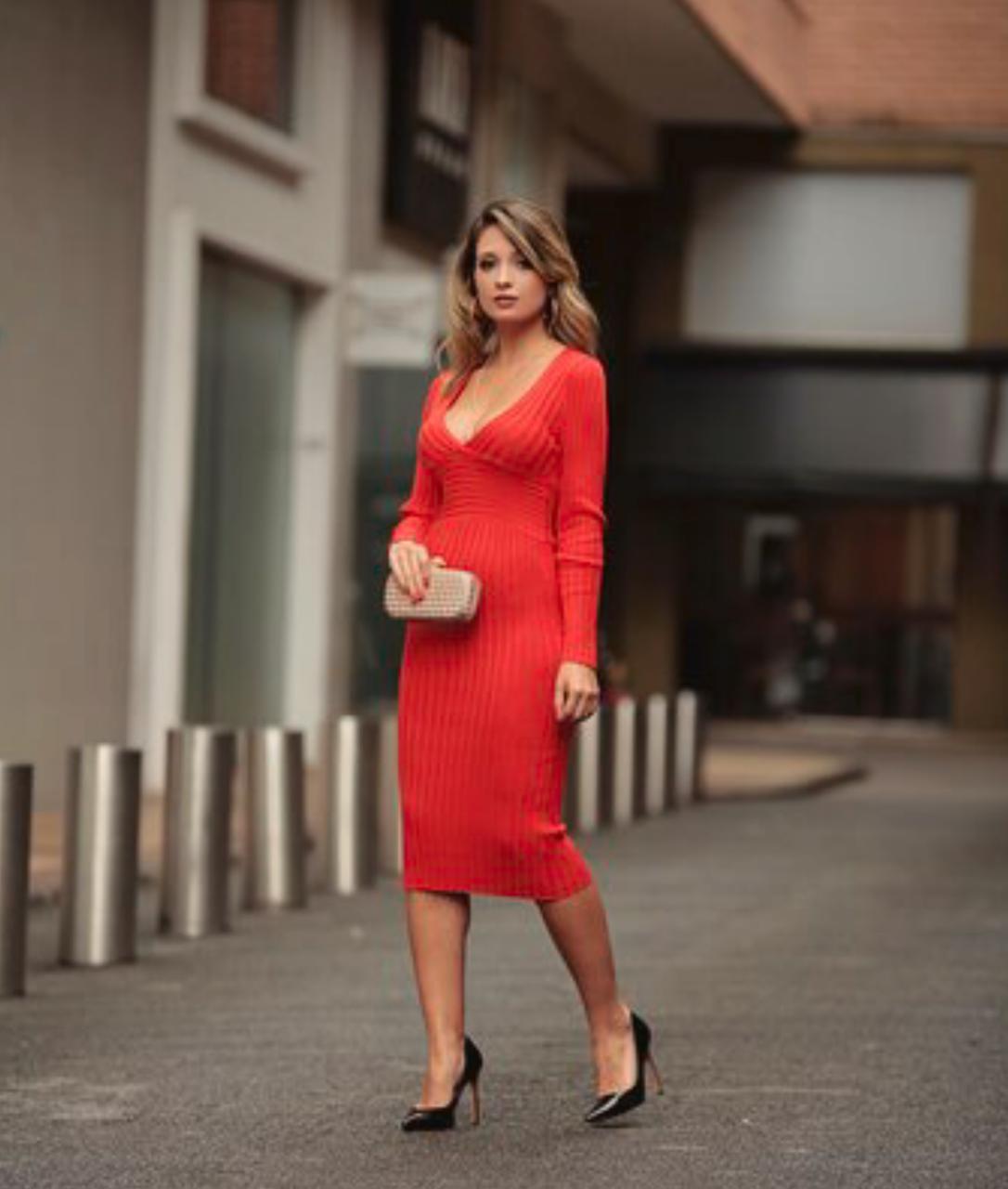 Vestido Morina Tricot Canelado