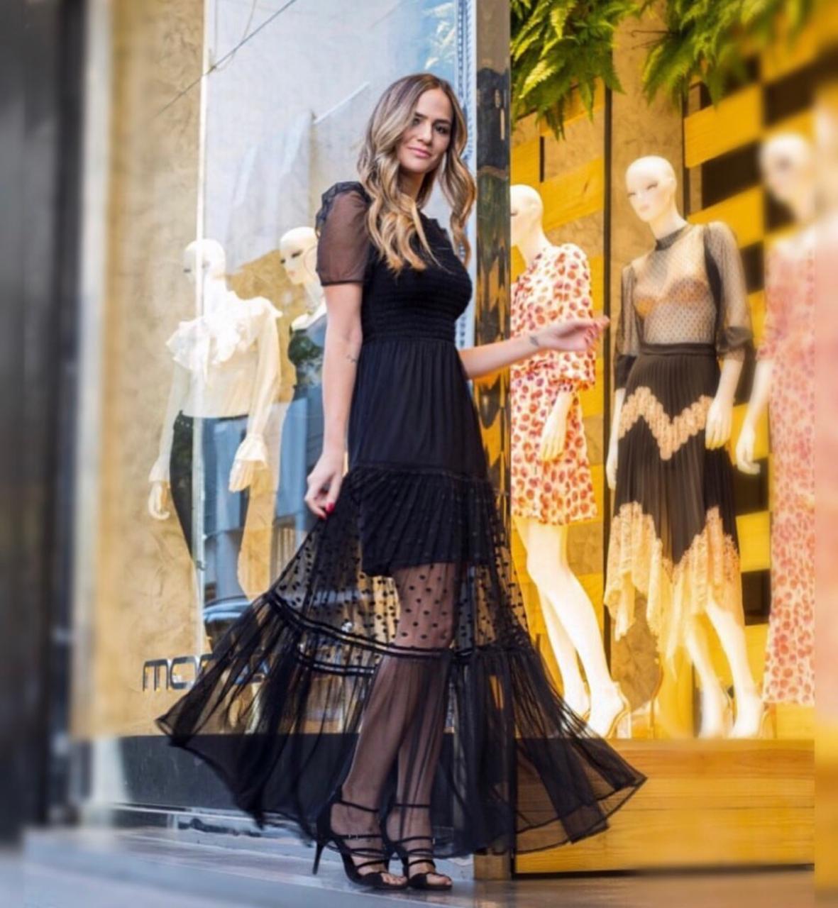 Vestido Morina  Tule C/Lastex