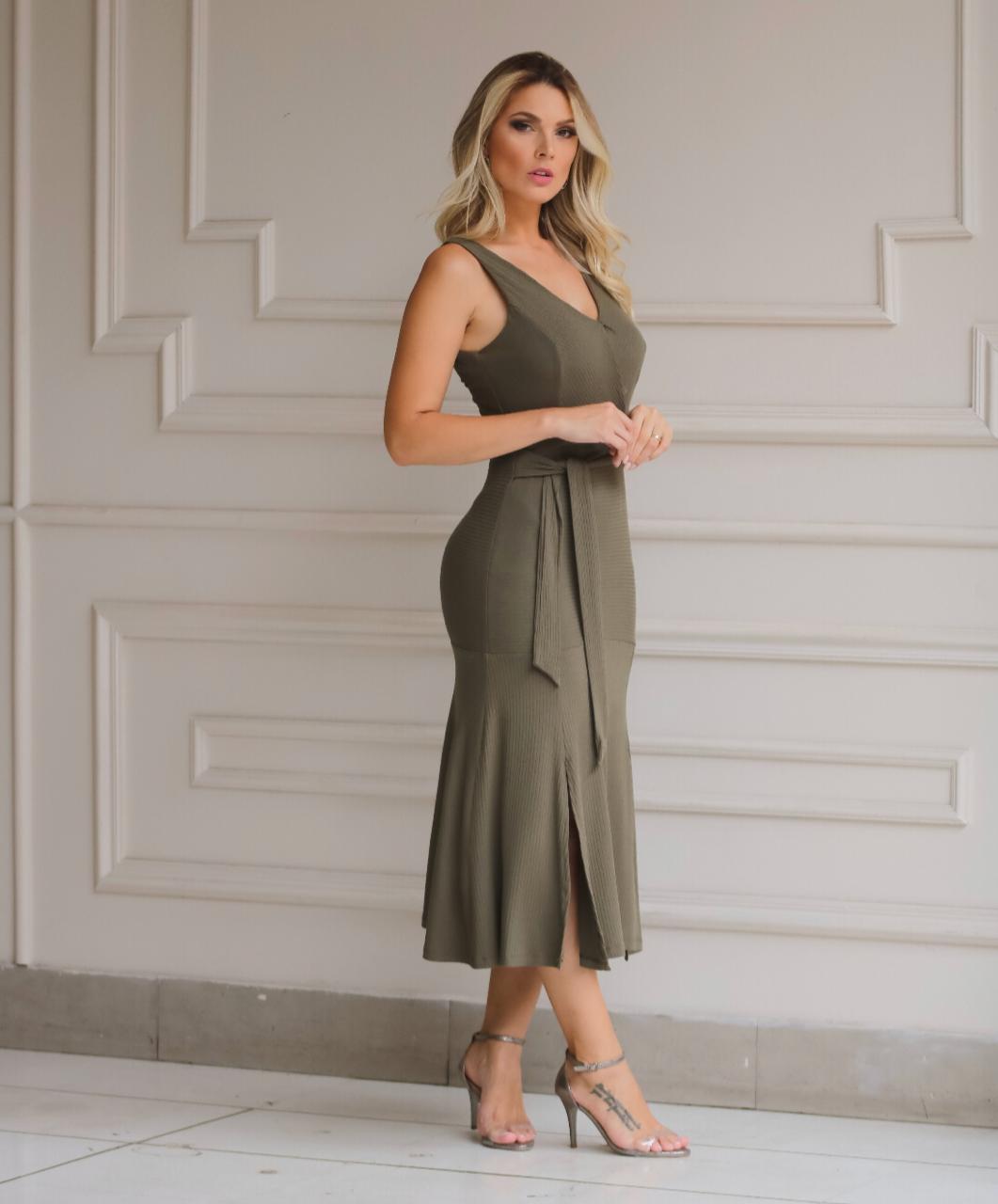 Vestido Natalia Canelado