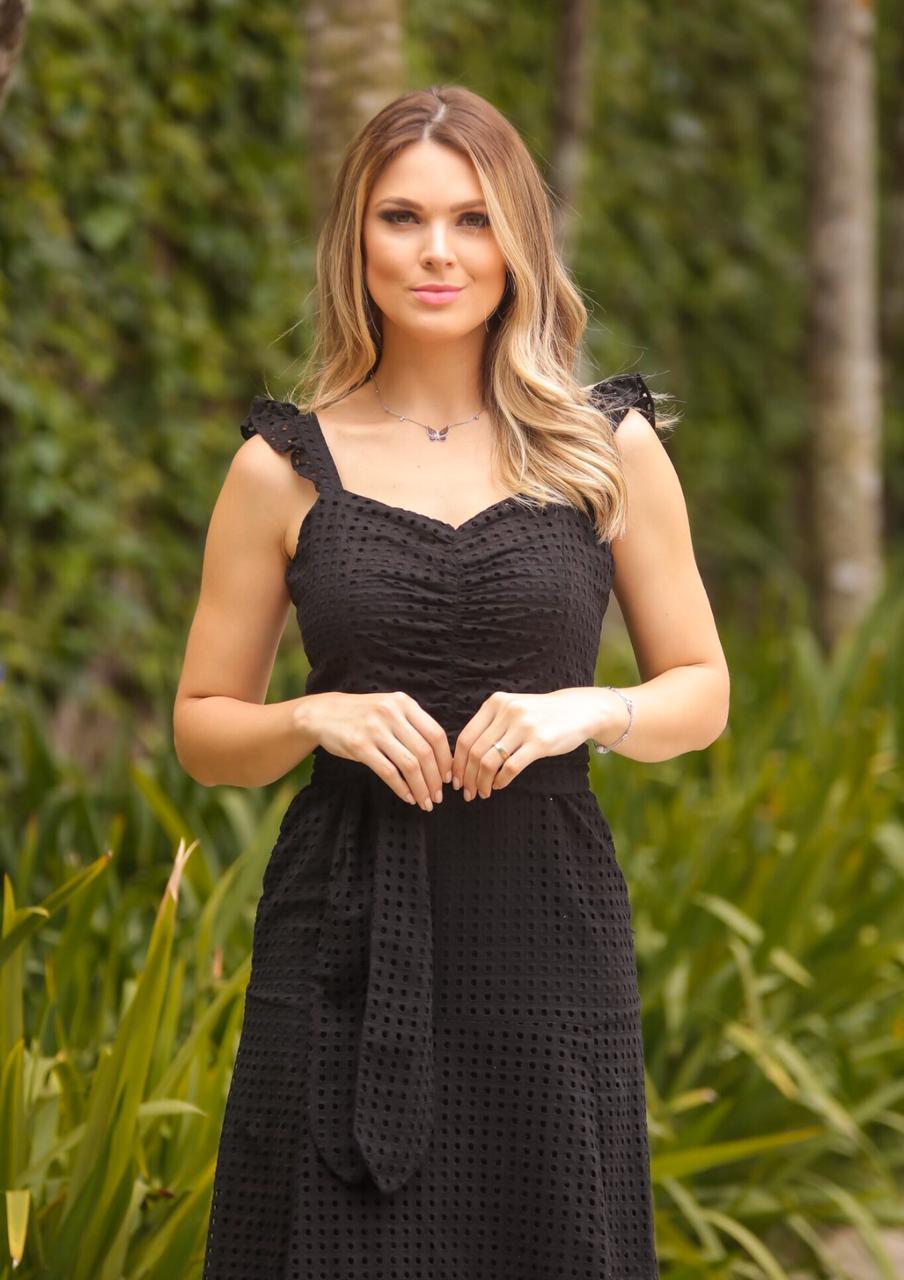 Vestido  Natalia  Laise Midi + Faixa