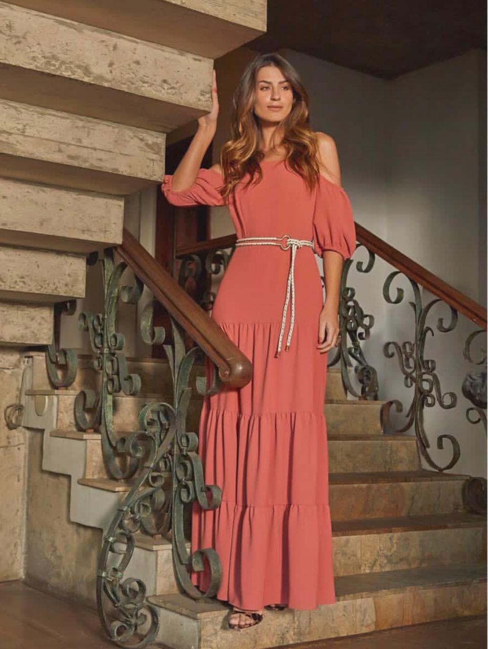 Vestido Nicole Crepe Cinto