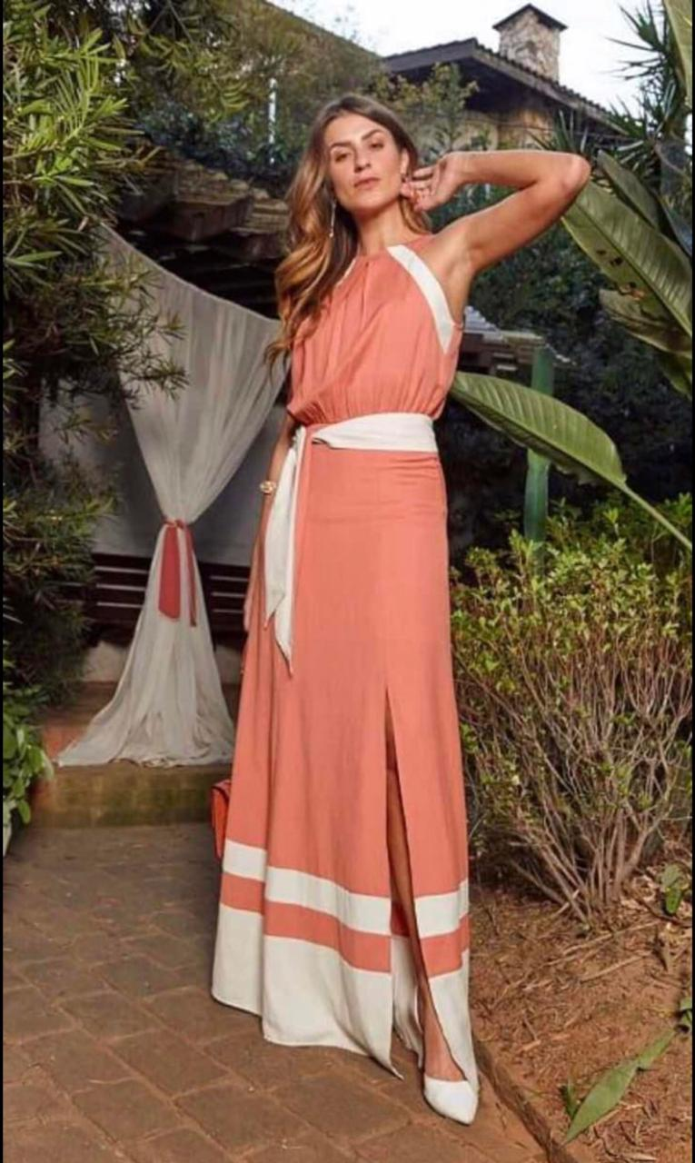 Vestido Nicole Linho Bicolor