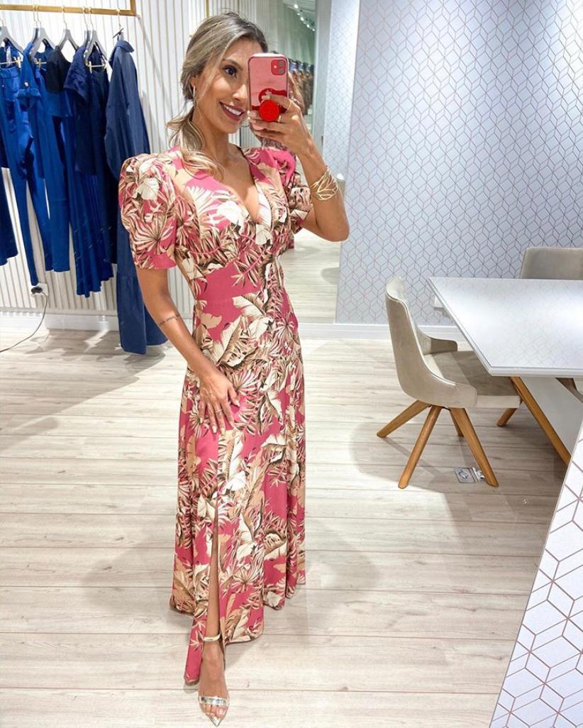 Vestido Nicole Viscose Longo