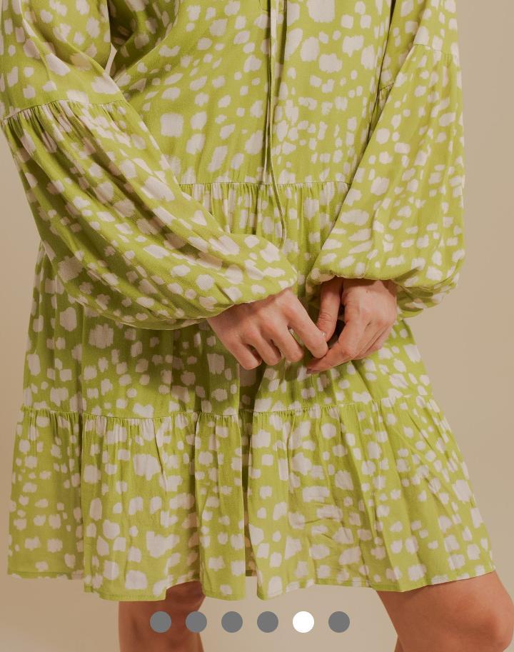 Vestido Pamela Viscose Creponada Print Curto
