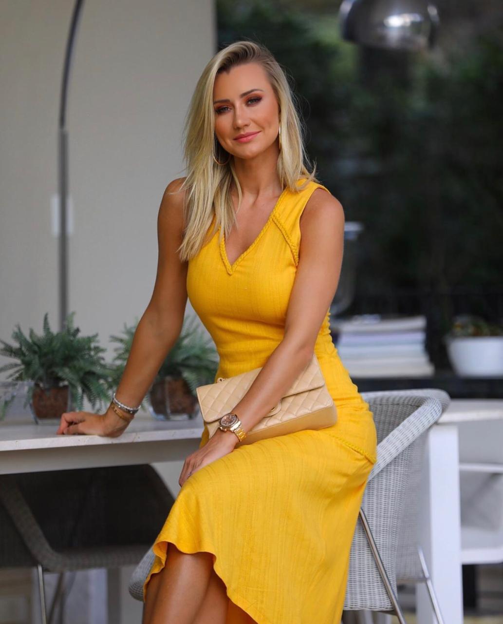 Vestido Paula Linho Jacquard Cordões