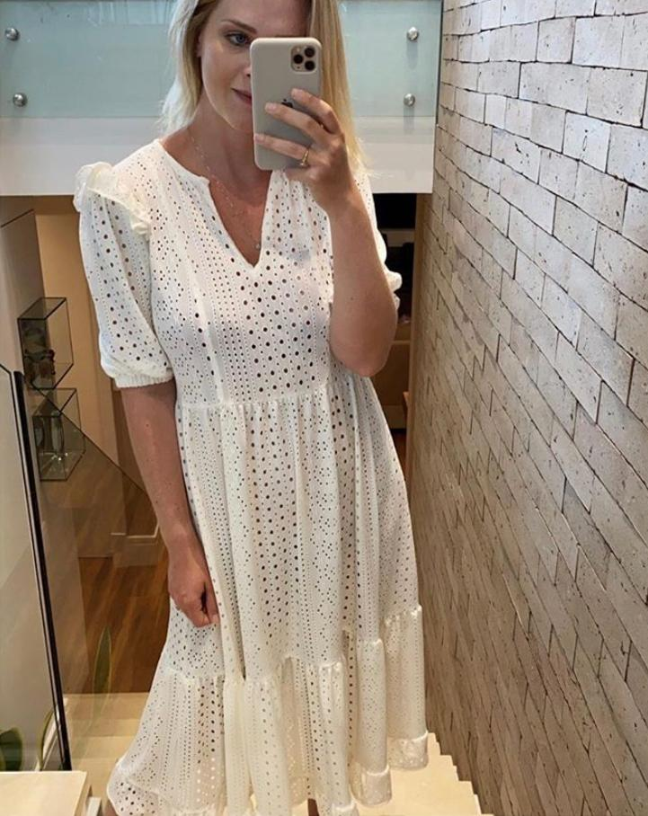 Vestido Prisima  Malha Laise Com Forro