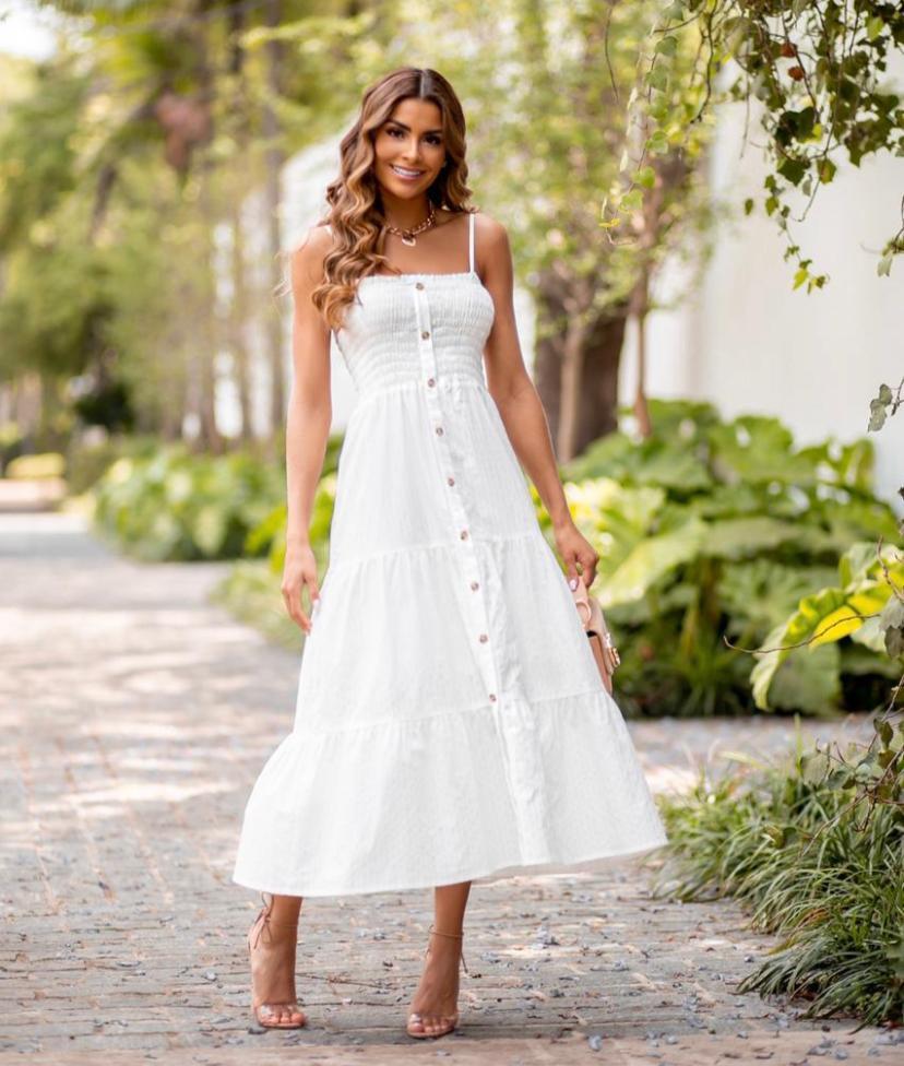 Vestido Roberta Lastex E Vista