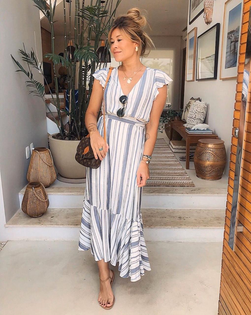 Vestido  Sabrina Viscose Listras