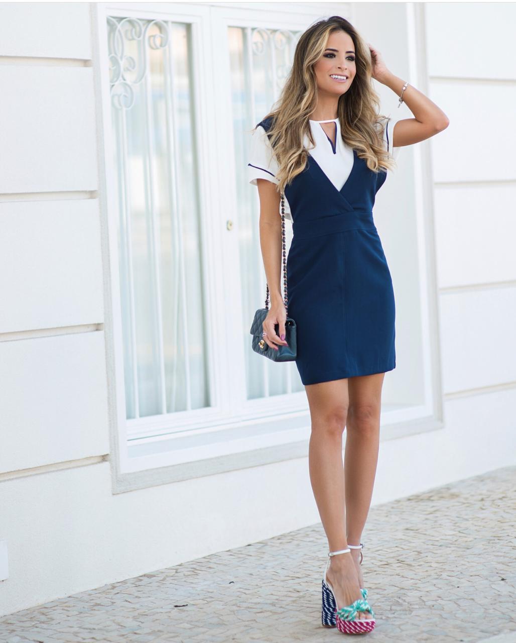 Vestido Salopete Tatiane Alfaiataria 4% Elastano