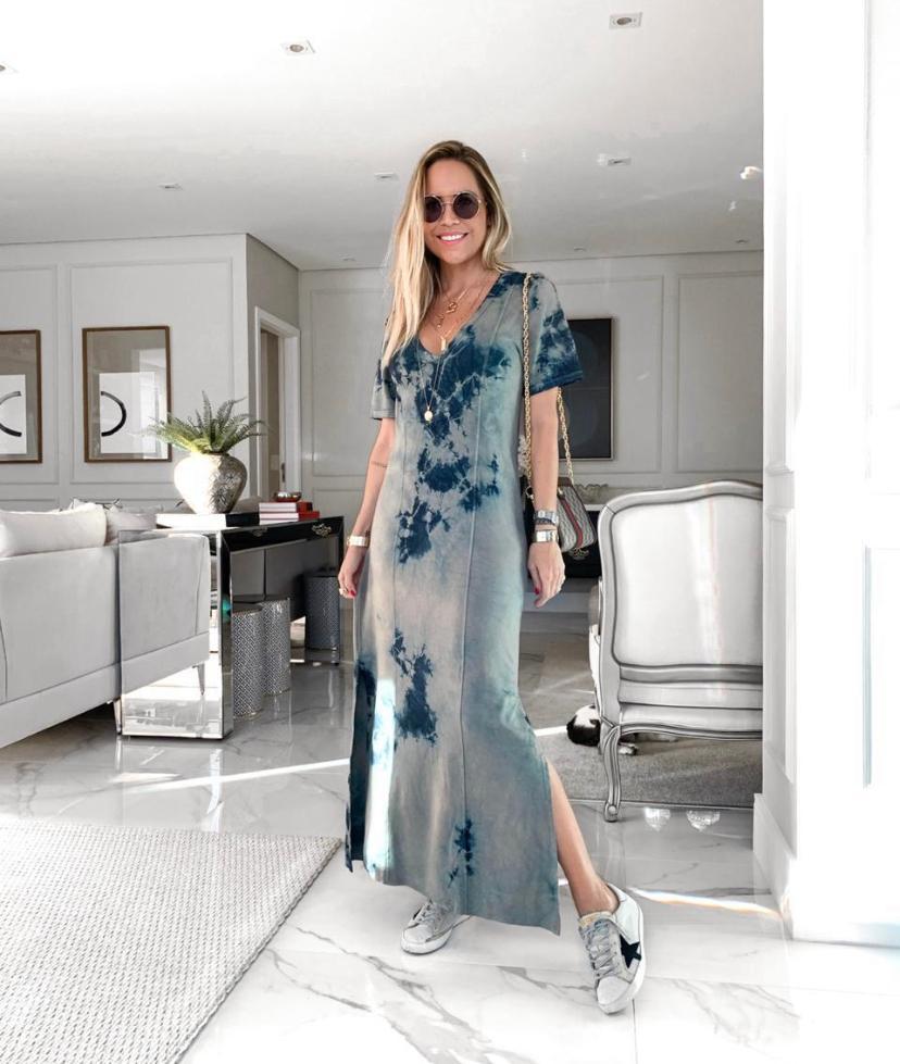 Vestido Samanta  Tie Dye Viscomalha  4% Elastano