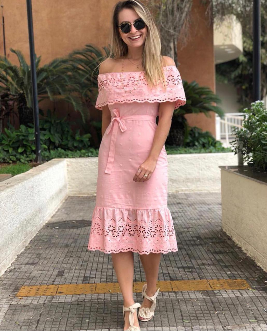 Vestido Samira Ombro Laço Lasie  Rose