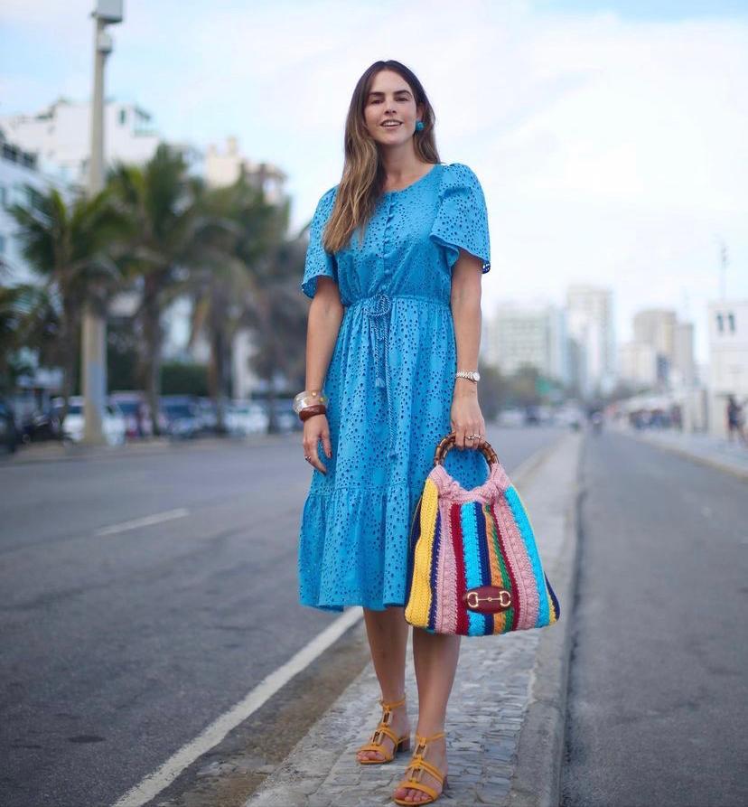 Vestido Sol Renda Laise Detalhe Babadinhos C/ Amarração