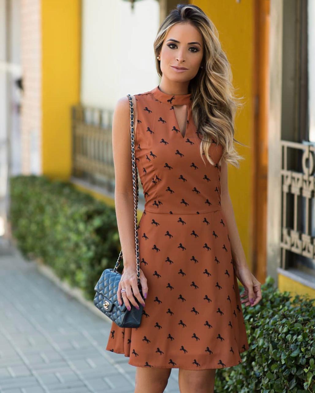 Vestido Suzana Crepe Print