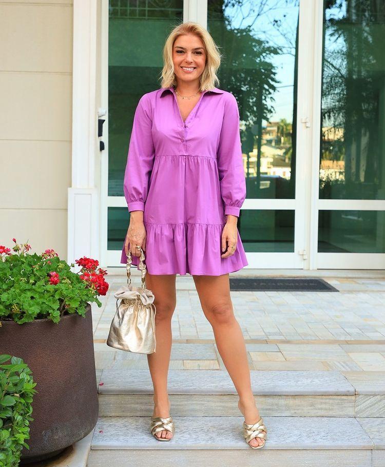 Vestido Pamela Tricoline Detalhe Recortes Babados