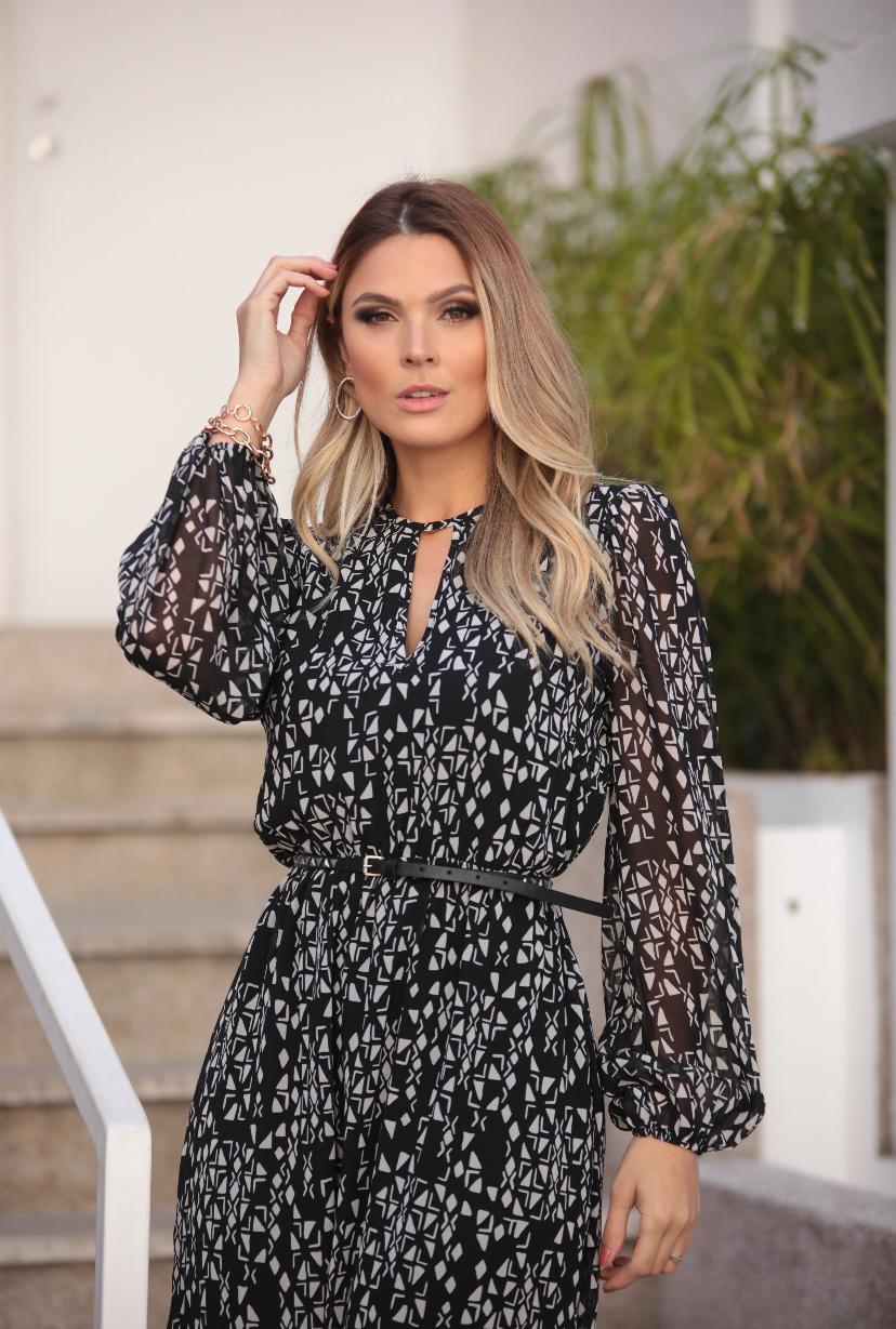 Vestido  Tania Rachel Chiffon C/Cinto