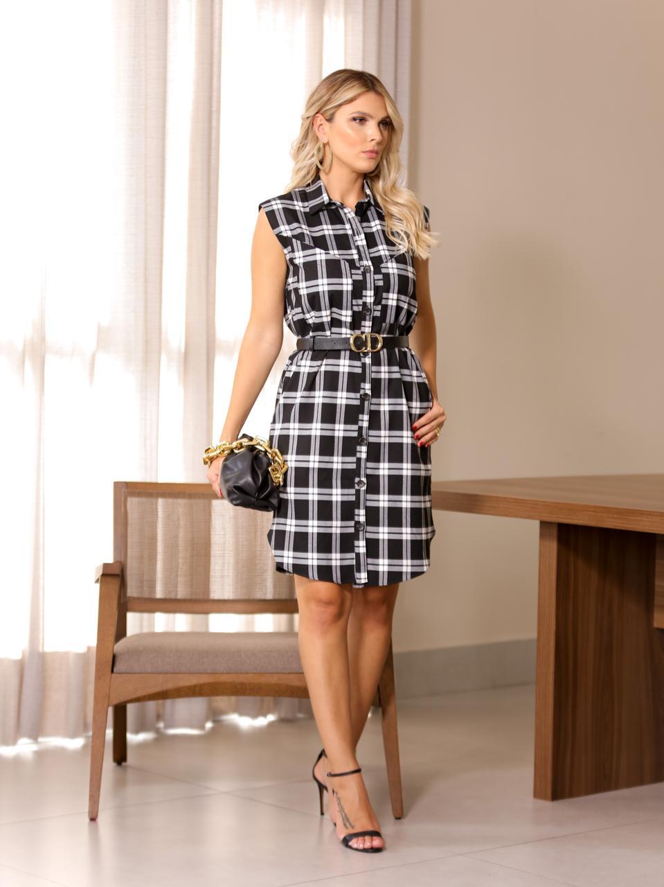 Vestido Toscana Regata Viscocrepe  3 % Elastano