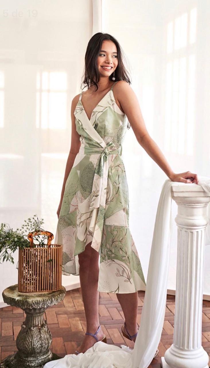 Vestido Valeria Crepe Estampado
