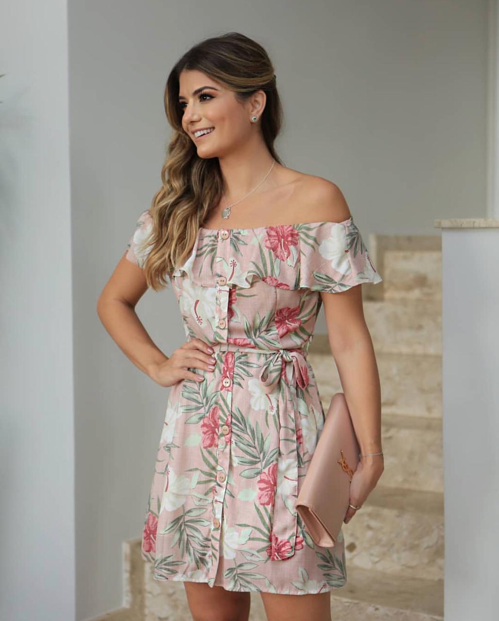 Vestido Vivian Ciganinha Crepe Floral