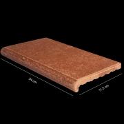 Arremate piso rústico envelho mesclado 24 x 11,5