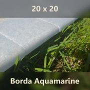 Borda Pedra Água Marinha - 20x20cm