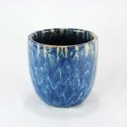 Cachepot Esmaltado M - Azul del Mar