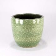 Cachepot Esmaltado M - Verde Água