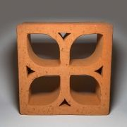 Cobogó Rústico - Limoeiros - Vermelho - 20x20