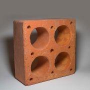 Cobogó Rústico - Ocas - Vermelho - 20x20