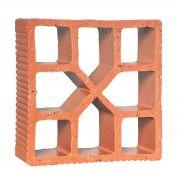 Cobogó Rústico Reto Xis - 18x18
