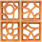 Kit 4 com Cobogós Linha Orgânica - 22,5 x 22,5