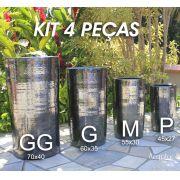 Kit 4 vasos Cilindro - P M G GG