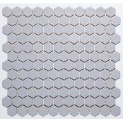 Pastilha de Porcelana Hexagonal - M-12257 - Inox