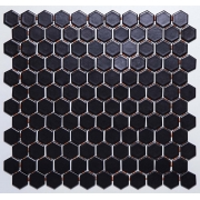 Pastilha de Porcelana Hexagonal - M-4337 - Preto
