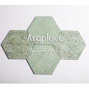Pedra Hijau Hexagon - 15x15cm