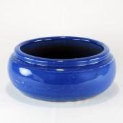 Vaso Esmaltado Bacia Borda - P - Azul Real