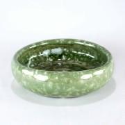 Vaso Esmaltado Bacia Lisa - P - Verde Água