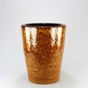 Vaso Esmaltado Cone - 50 cm - Amarelo Tigre