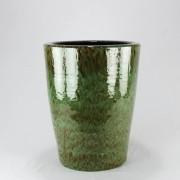 Vaso Esmaltado Cone - 50 cm - Verde Cobra