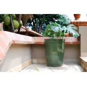 Vaso Esmaltado Cone - 50 cm - Verde Musgo