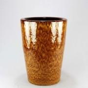 Vaso Esmaltado Cone - 60 cm - Amarelo Tigre