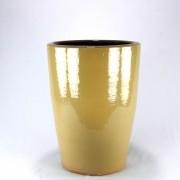 Vaso Esmaltado Cone - 60 cm - Bege Saara