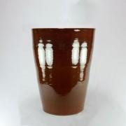 Vaso Esmaltado Cone - 60 cm - Marrom Conhaque