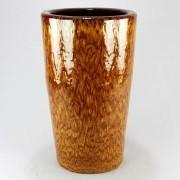 Vaso Esmaltado Cone - 70 cm - Amarelo Tigre