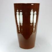 Vaso Esmaltado Cone - 70 cm - Marrom Conhaque