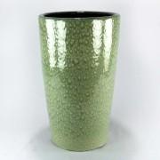 Vaso Esmaltado Cone - 70 cm - Verde Água