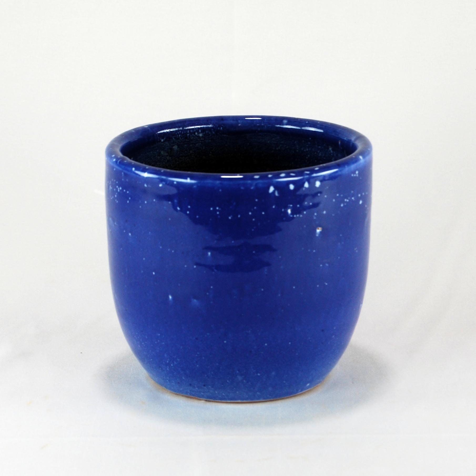 Cachepot Esmaltado M - Azul Real