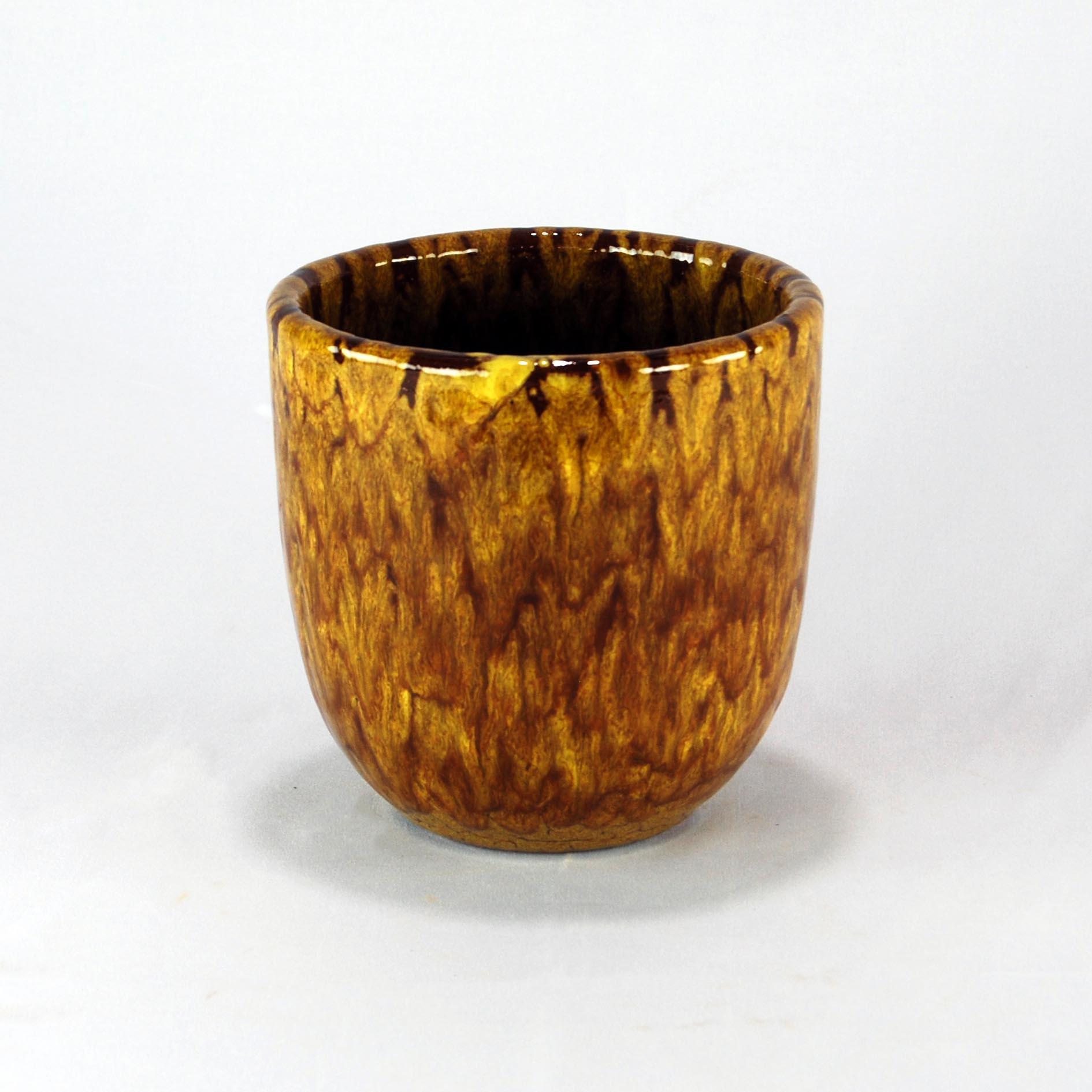 Cachepot Esmaltado P - Amarelo Tigre