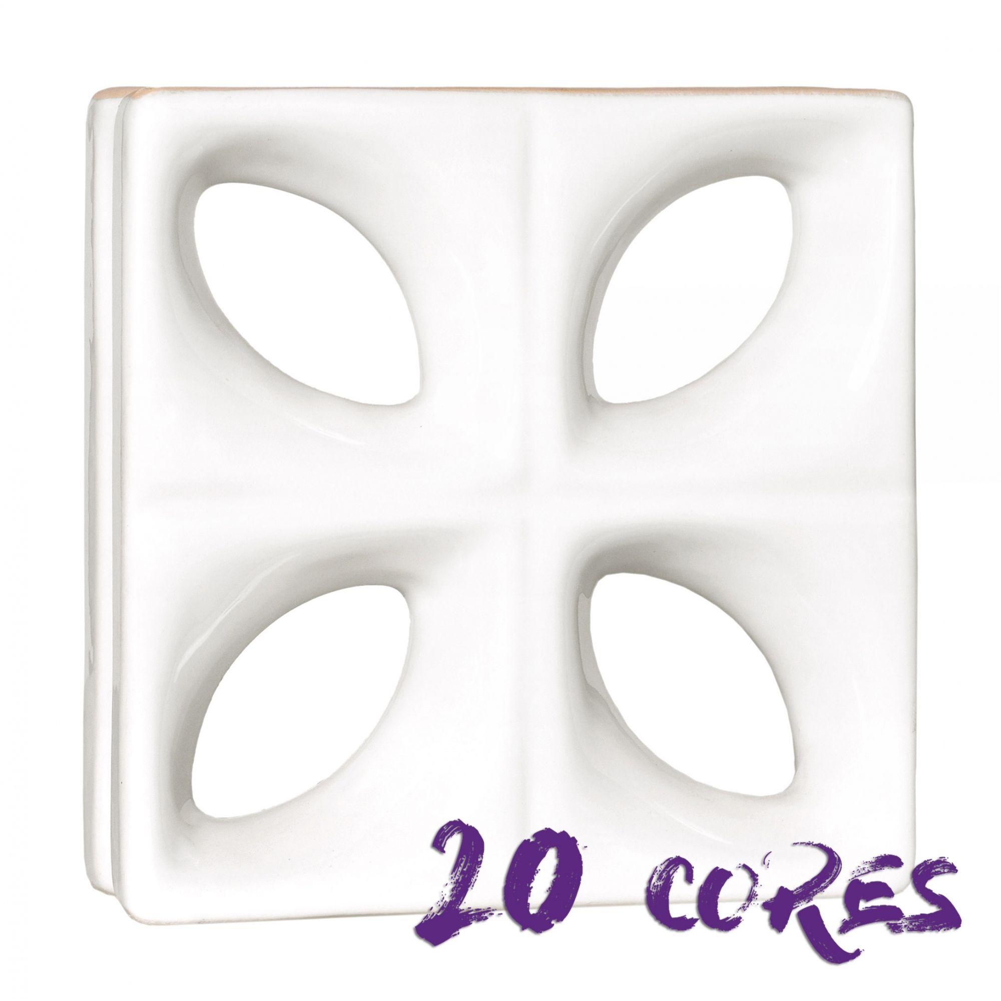 Cobogó Folha - 20 cores - 25x25 cm