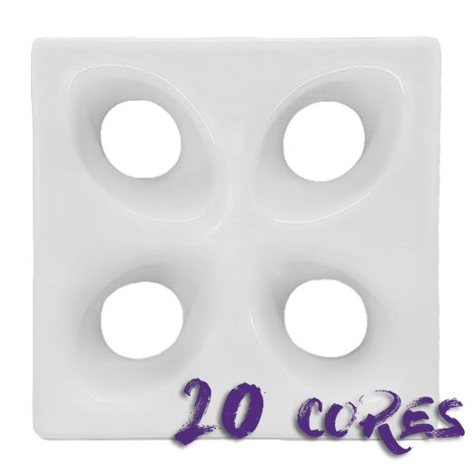 Cobogó Mini Folha - 20 cores - 20x20 cm